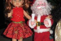mes réas Poupées Noël / tenues de noel pour barbies, paola ou autres poupées ...