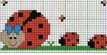 modèles pour plaids pixel - granny - C2C ... / des modèles au crochet ou en perles hama à adapter,  une perle = un carré ...