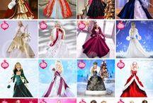 Barbie noel-holidays-christmas / barbie habillée pour noël