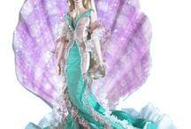 Barbie sirène - mermaid / barbie dans ses différentes tenues de sirène - couture, collection, crochet, tricot