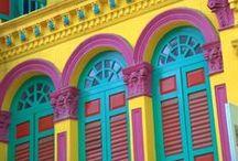 Cores vibrantes e coloridas.