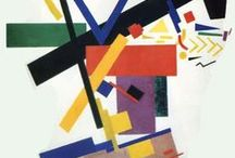 """Suprematism / Suprematism is an art movement, focused on basic geometric forms, such as circles, squares, lines, and rectangles, painted in a limited range of colors. It was founded by Kazimir Malevich in Russia, around 1913. The term suprematism refers to an abstract art based upon """"the supremacy of pure artistic feeling"""" rather than on visual depiction of objects."""