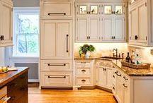 White kitchen/dining area