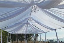 Tenting / Beautiful Tent Set-Ups we love and hope to create with clients in the future!