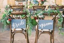 Wedding Chair Decor / Variety of creative chair decorations for Wedding Ceremonies and Wedding Receptions we love! Get inspired by this collection of pins for your decor