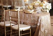 Sweetheart Tables / There's a wide variety of ways to decorate a Sweetheart Table at your wedding reception. Take a look here for some inspiration and ideas to use with our Half Moon Tables!