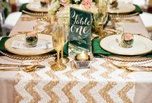 Gold Wedding Combos! / Gold goes great with a variety of different colors. Check out this pin board for gold palette inspiration!