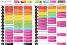 Conference Schedules / Beautiful schedule designs for conferences.