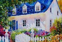 Art ✿⊱ - Houses, homes, gardens