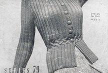 Knitting / Cardigans / Vintage