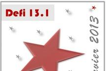 13.1 - Vos Etoiles en tutos / Tutoriels sur Une pluie d'étoiles des participantes aux défis de Partage Tutos & Idées créatives