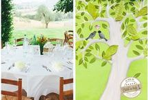 Italian style | Tableau & Seating chart / Tableau mariage, seating chart, escort card ideas