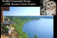 Healthy Community Design__CZM  Boosters Circle Virginia / Coastal Zone Management is CZM  at Virginia. CZM is an extremely complex activity of multi-discipline topics policy boundries & implementation challanges.