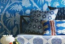 LA MAISON INDIGO / Tendance phare de l'été, l'indigo est un bleu profond qui incite à la réflexion. A consommer sans modération pour la décoration d'intérieur !