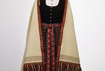 Folk costumes froum around Europe / Traditional gems worn across Europe, mostly XIX century