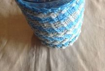 Summer vase cozy / Colours of Sea and sky greens and blues