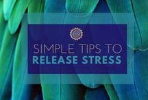 Simple Tips To Release Stress / If you want to live a happy, peaceful and deeply satisfying life, you need to know how to better manage your stress first.  Get some of my best tips on natural and instant stress relief for busy parents.