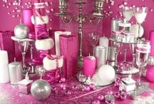 Rose de Noël ... / Pourquoi Noël se fêterait-il toujours en rouge ? Soyez originale et réalisez votre déco de table en fushia !