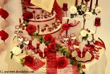 Mariage rouge passion / Retrouvez les essentiels à un véritable repas en amoureux ! Au-delà des clichés, sachez épater votre moitié avec une ambiance parfumée et tamisée...