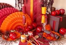 Décor d'automne / Entre tradition et modernité, on rallume les poêles à bois ou les feux de cheminée en ces temps neigeux, et on se regroupe autour d'une décoration de table chaleureuse et colorée !