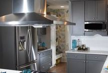 Modern Grey's in Whitefish Bay / Our client asked for a full update of her current 50's look. We started with a great design by Gwen Adair and the end result was absolutely amazing. Painted gray Dura Supreme Cabinetry was used in most areas and then a classic white painted look with inset doors for another specific area to add some pizazz. Higher end appliances were pulled in to complete the look which included Jenn Air, Samsung, Kitchen Aid, and GE.