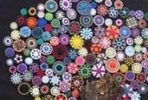 Buttons Beads Ribbons - Knöpfe Perlen Bänder - buttons perles rubans / Buttons Beads Ribbons Tassels - Knöpfe Perlen Bänder Quasten - buttons perles rubans, puerteros borla -