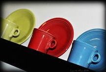 Fiestaware / Fiestaware/dinnerware is a line of ceramic dinnerware glazed in differing solid colors. Original shapes, glazes and concept of combining various colors.