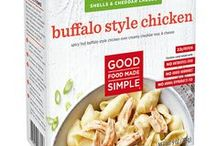 Good Food Made Simple Products / EATING WELL SHOULD BE SIMPLE.  Yet finding the time to make delicious, wholesome meals is hard. We're changing that—one mouthwatering meal at a time. By preparing simple recipes you can feel good about eating, that are ready in minutes. And taste better than you ever thought frozen food could.