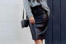 Leathe skirt outfits