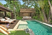 No. 10, 1-Bed Luxury Villa With Private Pool / Private pool with twin sun-loungers, shower and balé, open-air dining area, air-conditioned king-sized bedroom and living room, indoor-outdoor spa bathroom, poolside shower, guest loo, kitchen and full hotel services. www.villakubu.com/seminyak-villas/1-bedroom-villas/1-bedroom-luxury-villa-private-pool-10/