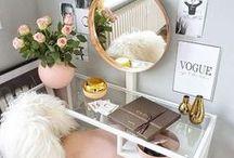 make-up desk