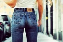 FASHION - High Rise Jeans