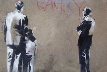 Banksy / By far my favourite contemporary artist, and my absolute inspiration.