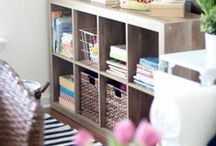 STORAGE and ORGANIZING / Easy and practical tips to help you organize your home.