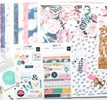 The Scrappery Kits (TSK) / The Scrappery Kit is known as the TSK which the monthly  traditional scrapbooking kit. This kit is full of 12x12 patterned paper, embellishments and even exclusive products.