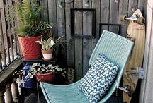 Terrazas / Este tablero trata sobre mi sueño tener una de estas terrazas para cuidar cómodamente mis plantas y disfrutar del espacio escuchando los ruidos de la rutina.