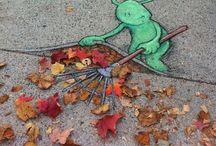 Espectacular arte urbano / Aquí muestro distintas obras de arte dibujadas por la calle, juegan con los distintos efectos ópticos...