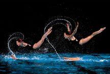 Natación sincronizada / Aquí muestro estás fotografías de un deporte que me encanta, como es la natación sincronizada.