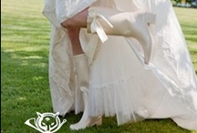 Rain Boots For Weddings / If there is one thing that you can not control on your wedding day it is the weather.  Check out some of these cute rain boots that will enhance your special day should you get caught in the rain.