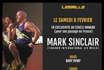 Mark SINCLAIR aux Cercles de la Forme - Février 2014 / Les Cercles de la Forme ont reçu Mark Sinclair, trainer international LesMills lors d'une journée Fitness au Cercle Ornano à Paris: Body Pump, Body Attack, Body Combat