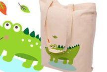 Kolekcja toreb dla DZIECI / #torbtdladzieci #kreskowki #zwierzatka #lew #zyrafa #dziendziecka
