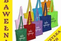 Kolorowe torby z nadrukiem