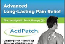 ActiPatch® Pain Relief Technology / ActiPatch® treats pain and inflammation at the source by using low level and safe electromagnetic pulses to stimulate injured cells to speed recovery. Electromagnetic Pulse Therapy is sensation free, so the only thing you feel is relief!