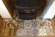 Flagstones & Floor Tiles Design ideas / Design ideas for reclaimed,salvaged, antique, vintage, upcycled. / by Architectural salvage on SalvoWEB