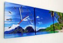 Schilderij Canvas met Klok - Wandklok / Klok op Canvas Schilderij met leuke afbeeldingen | Wandklokken met Afbeelding | Canvas Klokken | Schilderijen met Klok