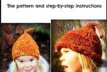 How to knit a pixi hat or gnome hat / This is my knitting pattern for a pixie hat or gnome hat.  Super cute! I have had a life long addiction with knitting and spinning that borders on obsession.  It's also my psychotherapy, or at least that's what I tell my husband when I fondle deliciously soft mohair at the yarn store, and I look at the price tag, and I swallow hard, and I look again, but that didn't change the number.