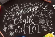 Chalk Art 101 / Learning Chalk Art, Beautiful Chalkboards, Creating Chalk Art, Chalk Art Tutorial, Chalk Lettering, Learn to create beautiful Chalkboards, Chalkboard tutorial, DIY Chalk art, DIY Chalkboard