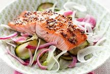 Healthy Seafood Recipes / Clean eating has never been easier with these healthy seafood recipes. Try our healthy grilled salmon, baked salmon, salmon steaks, tuna salad, shrimp scampi, lemon butter shrimp, seafood pasta, and crab cake recipes.