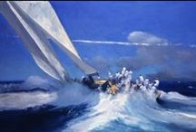 Art Theme | Sea / From racing to cruising, our sailing prints capture the power and beauty of the sea. The collection of captivating paintings by artists such as John Harris and James Fullarton, as well as vintage racing photography, convey the excitement and atmosphere of being on the water.