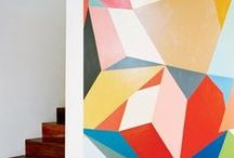 Art style   Geometric / With a scientific approach to pattern and colour, contemporary artists such as Simon C Page have embraced geometry in their work. Produced with mathematical precision, these bright and bold artworks will make a statement in any room.
